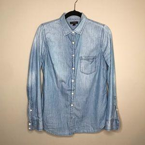 J. Crew Always Chambray button down Shirt sz 4